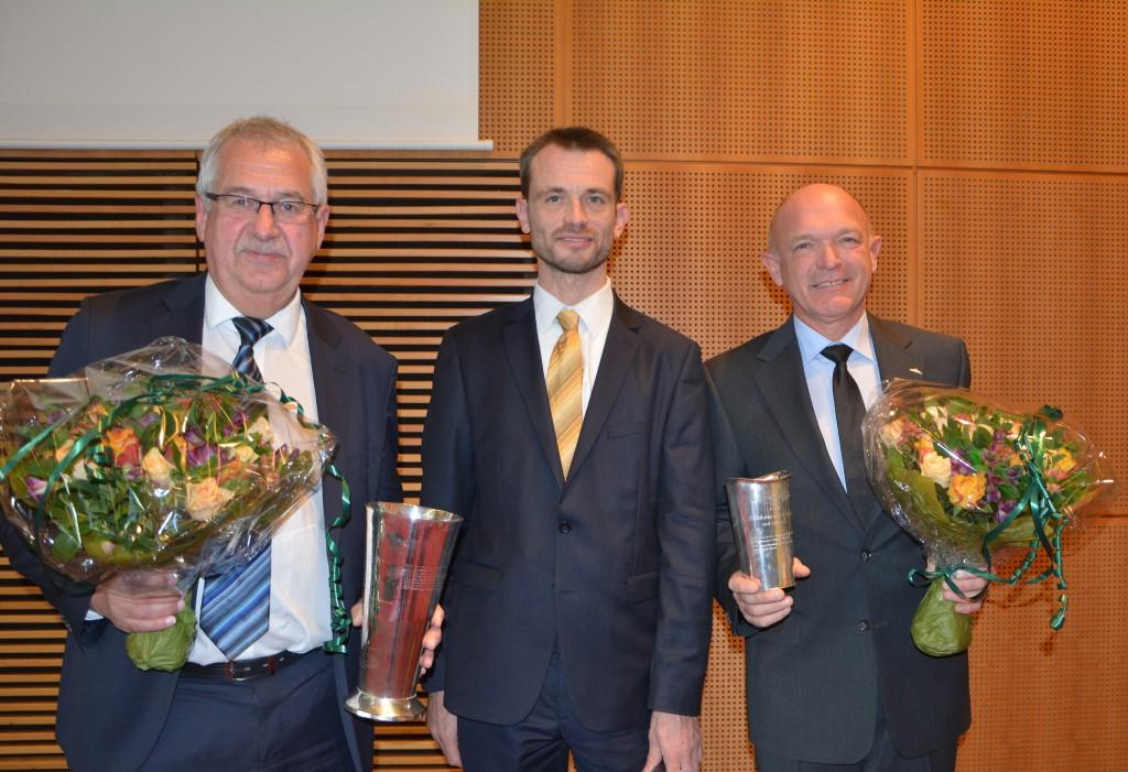 Hans Christian Schmidt (t.v.), Andreas Krog og Franz Vinther (t.h.). Foto: Preben Pathuel.