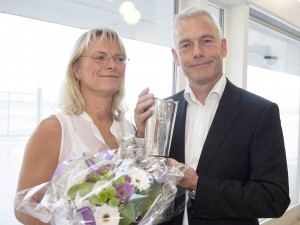 Adm. direktør Jesper Rungholm modtog Ellehammer  Prisen 2012. Han modtog prisen sammen med sin kone Kirsten Rungholm. Fotos: Bjarne Lüthcke
